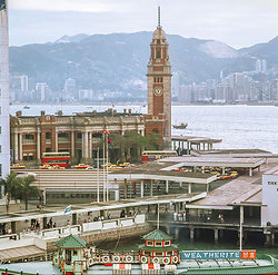 KM-201 Tsim Sha Tsui Clock tower & Kowloon railway station - 1972