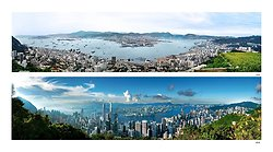 KMPAN-025M VIEW OF HONG KONG HARBOUR FROM POLLOCK'S APTH 1970 TO 2016