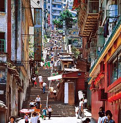 KM-20 Upper Ladder street from Hollywood road - 1984