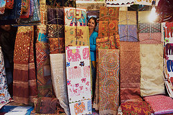 Sari & embroidery seller, Janpath, Delhi