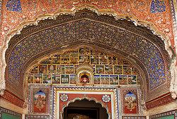 Jaipur Rajasthan -Samode haveli Entrance