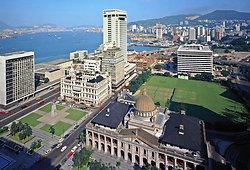 KM-167 Hong Kong Club, Furama Hotel & cricket pitch - 1975