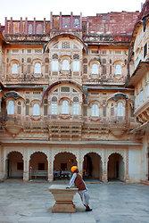 Jodhpur - Courtyard in Mehrangarh Fort