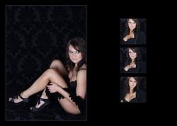 4 Boudoir portrait book layout, Norfolk Boudoir photograph