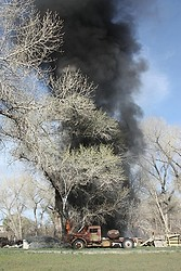 Fire in the Cottonwood Trees