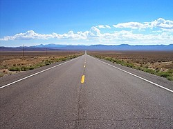 The Loneliest Road in America - Hwy 50 Nevada