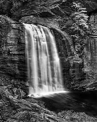 Looking Glass Falls, Pisgah Forest NC (B/W)