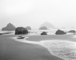 Receding Sea Stacks, Bandon Beach OR (5768)