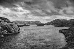 Protected Harbor, Rodel, Outer Hebrides Scotland