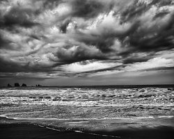 Passing Squalls, Beach 2, Olympic Peninsula, WA (2014/D008242)