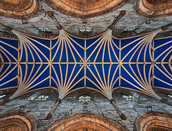 Blue Ceiling and Stars, St. Giles Cathedral, Edinburgh Scotland