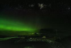 Aurora Borealis and Nebula - Lochmaddy - North Uist Scotland