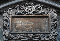 Details, Weathered Memorial, St. Giles Cathedral Edinburgh Scotl